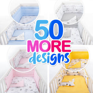 MULTI PATTERN NURSERY BEDDING SET-BUMPER-PILLOW-QUILT COVERS fit Cot/COT Bed