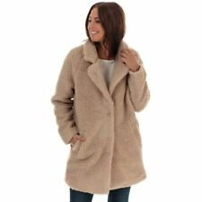 Women's Only Aurelia Sherpa Relaxed Fit Fully Lined Coat in Cream
