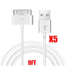 5x 30 pin to USB Sync Data Charging Charger Cable for iPad1 iPad2 iPad3 iPhone4