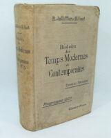Histoire TEMPS MODERNES & CONTEMPORAINS 1904 Cartes couleur Garnier Livre ancien