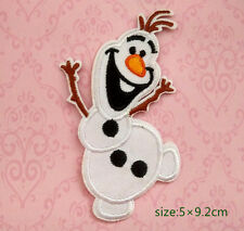 Olaf - Frozen - Embroidered Iron On Patch snowman motif appliqué game kid gift