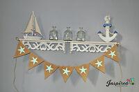 Beach Wedding Theme Burlap Bunting Hessian Banner Birthday Party Retro Vintage