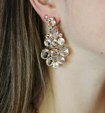 NWT Kate Spade exquisite 14K Filled AMAZING Chandelier Earrings in CLEAR CRYSTAL
