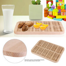 OUNONA Times Tables Beech Wood Breakfast Board Math Multiplication Magic Toy