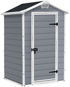 ✅NEW Keter Manor Shed 4ft x 3ft x 6ft Grey Outdoor Garden Storage🚚24HR Dispatch