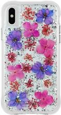 Apple iPhone XS Max Case Cover Case Mate CM037848 Tough Rugged Flowers Purple