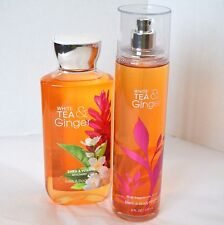 Bath and Body Works White Tea & Ginger Fragrance Mist Spritz & Shower Bath Gel