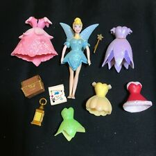Disney TINKERBELL Polly Pocket Doll with 6 Dresses PLUS Accessories
