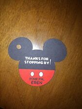12 Personalized Disney MICKEY MOUSE head favor tags- birthday party, baby shower
