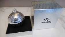 Wallace Silverplate Annual Sleigh Bell Christmas Ornament 2007 with orig Box