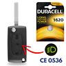 Boitier Plip Coque Télécommande pour Clé CITROEN C2 C3 C4 Picasso C5 C6 ➜CE0536