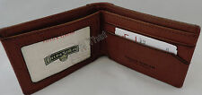 New Mens Field & Stream Buxton RFID Distressed Canvas/Leather Gray/Olive Wallet