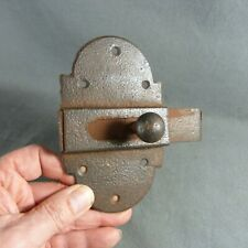 French Antique Large Hardware Iron Slide. Bolt Latch Lock Country Rustic