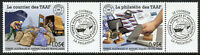 FSAT TAAF Stamps 2020 MNH The Mail & Philately Ships 2v Strip + Label