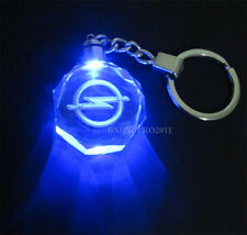 Car Logo LED night Light color changing crystal Key Chain Keychain For opel