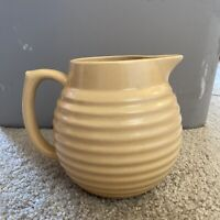 Over And Back Yellow Ware Yellow Beehive Pitcher