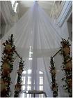 5m Voilage Voile Chic Blanc Pur ,GRANDE LARGEUR 300cm , Déco, Mariage, photo