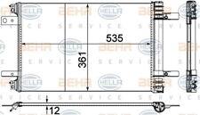 8FC 351 345-121 HELLA Kondensator Klimaanlage