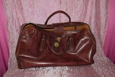 Borsa borsone valigia in cuoio e ottone. 1940  Italian Leather Bag (SV) ^