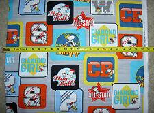 All Stars Snoopy Peanuts Charlie Brown baseball cameos multi 24527 K QT Fabric