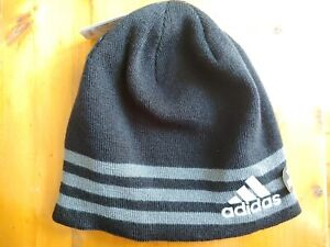 ADIDAS ClimaWarm Eclipse Reversible Rev II Youth Beanie Hat Black & Gray New