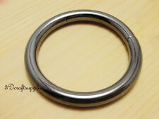 metal O rings O-ring purse ring connector gunmetal 25 mm 1 inch 10pcs J40