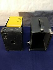 Antique Kodak No. 2A Model B Brownie Box Camera w/ film verichrome pan 1916