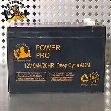 NEW 12V 9AH SLA AGM battery 60CCA Same Size as 12V 7ah 7.2ah 8ah Alarm Toy Light