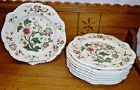 8 Early / Antique Hand Painted Porcelain Plates - Chamberlains Worcester London