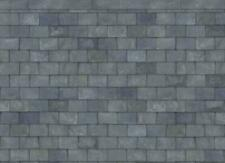 Dolls House Slate Roof Paper Miniature Print Exterior Wallpaper 1 12 Scale