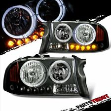 1997-2004 Dodge Dakota/1998-2003 Durango Black LED Dual Halo Headlights Pair