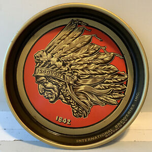 Vintage Iroquois Indian Head Beer Breweries Metal Tray -  Buffalo, NY Original!
