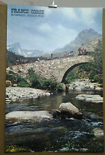 AFFICHE ANCIENNE PHOTO LA MONTAGNE REGION DE NIOLO CORSE DESJOBERT DRAEGER