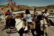 #HK672-35MM SLIDE-1959-NAVAJO INDIAN CHILDREN, RIDING HORSES, WINDOW ROCK