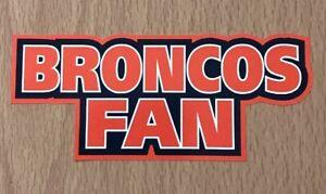 NFL Denver Broncos Sticker Decal - AFC West Super Bowl Fantasy Football Team