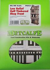 Metcalfe PO421 - Low Relief Half Timbered Shop Front, Laser Cut Card Kit (00)
