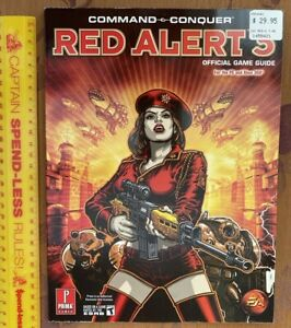RED ALERT 3 COMMAND & CONQUER PRIMA STRATEGY GAME GUIDE XBOX 360 PC LIKE NEW!!!