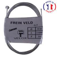 CABLE DE FREIN VELO VTT ARRIERE 1.5MM 2.5M VELOX ACIER WEINMANN SHIMANO MAFAC