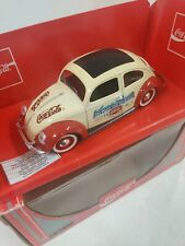 COCA COLA Herbie's cousin Love Bug WHITE VW Beetle Bug 1:18 Diecast.
