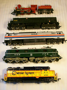 Lot of 5 different Locomotives for parts/repair, Rivarossi, Bachmann