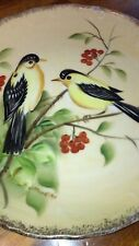 Beautiful Hand Painted Enesco Japan Bird Presentation Plate, Artist Signed Clean