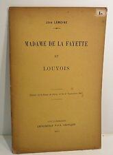 Jean Lemoine, Madame de Lafayette et Louvois, 1907