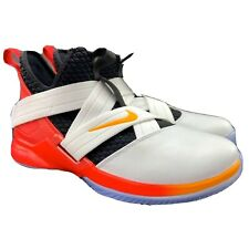 Nike Youth Boy's LeBron Soldier XII White Red Black Basketball Shoes Sz 13 (PS)