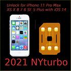 Perfect Unlock Turbo Sim Card for Phone R 13 12 11 X 8 7 SE XS Pro Max iOS 15