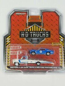 1:64 H.D.Trucks Series 15 1969 Ford F-350 Truck 1969 Ford Mustang Boss 302