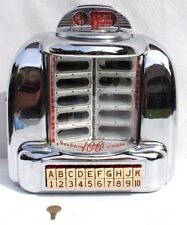 Vtg SEEBURG 3W1 100 Select Wall-O-Matic Jukebox WALLBOX  Working w/ Key (1 of 6)