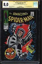 AMAZING SPIDER-MAN #58 CGC 8.0 SIGNED 2Xs STAN LEE & JOHN ROMITA  #1206790029