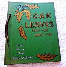 VINTAGE  NEWSLETTERS  ALPHA IOTA SORORITY OAKLAND CAL OAK LEAVES 1959 TO 1961