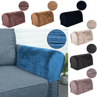 2Pcs Velvet Armrest Cover Stretchy Sofa Couch Arm Protector Slipcover Home