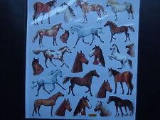 Design Sticker - Pferde + Pferdeköpfe mit Silbereffekten